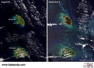 طوفان Irmaنقشه های هوایی را مخدوش کرد|کالاسودا