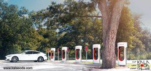 تسلا، مراکز سوپرشارژ خود را درآمریکا توسعه میدهد|کالاسودا