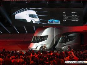 لوکس ترین کامیون الکترونیک سال در رویداد شب گذشته تسلا رونمایی شد|کالاسودا