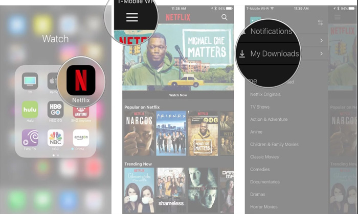 دانلود فیلم از نتفلیکس،برای دانلود از Netflix برنامه خود را به روز رسانی کنید