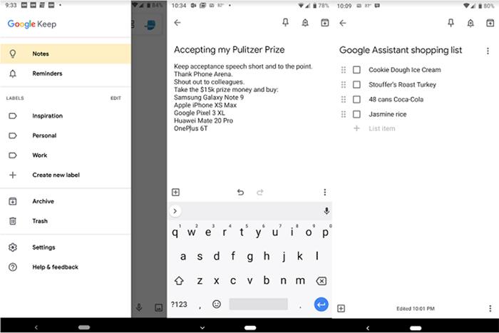 به روزرسانی جدید و جذاب اپلیکیشن Google Keep