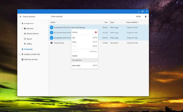 چگونه فایل های خود را در کروم بوک Zip و Unzip کنیم؟
