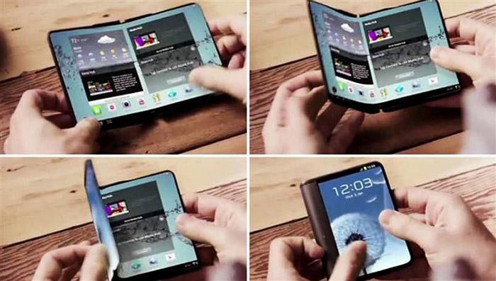 گوشی های  تاشو هوشمند قابل انعطاف سامسونگ