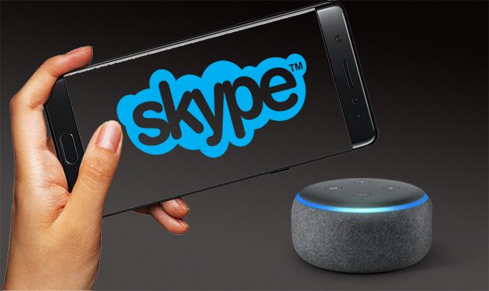 تماس با اسکایپ از طریق فرمان صوتی به الکسا