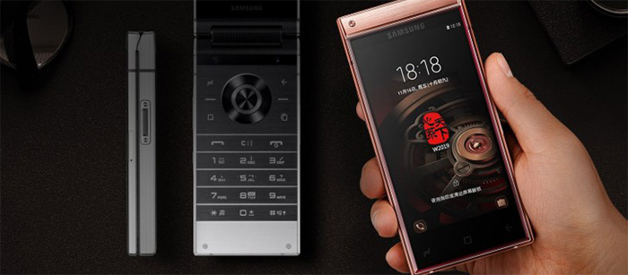 گلکسی W2019 ؛گران ترین موبایل سامسونگ رونمایی شد