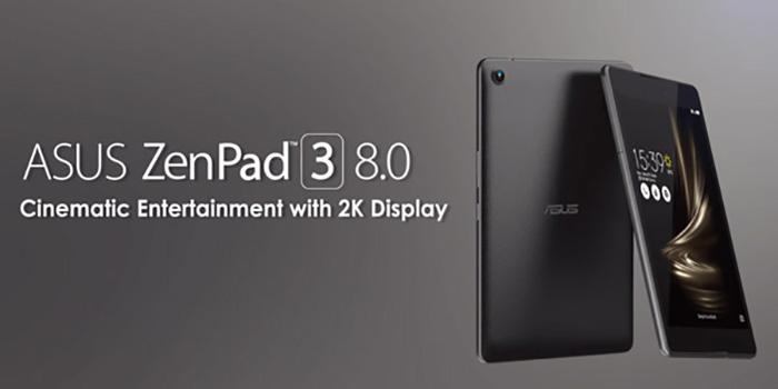 شرکت ایسوس؛تبلت Asus Zenpad 3s 8.0 نسخه 8 اینچی