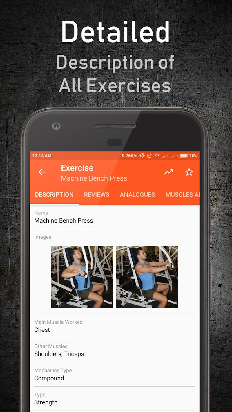 دانلود نرم افزار GymUp Pro workout notebook
