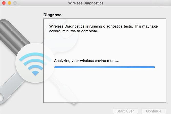 Wi-Fi مک بوک اجرای برنامه Wireless Diagnostics