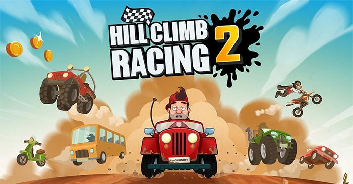 بهترین بازی های اندروید - بازی Hill Climb Racing 2