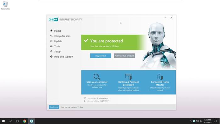 بهترین آنتی ویروس ESET Internet Security 11