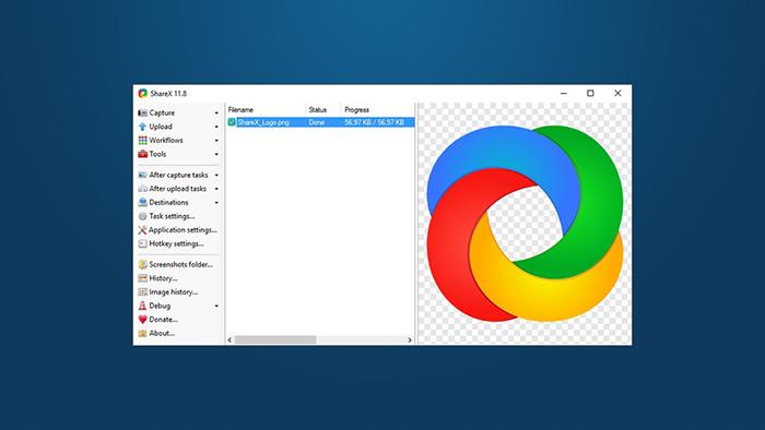 بهترین برنامه های کامپیوتر نرم افزار ShareX