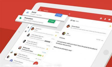طراحی جدید و جالب توجه اپلیکیشن جیمیل در سیستم عامل iOS