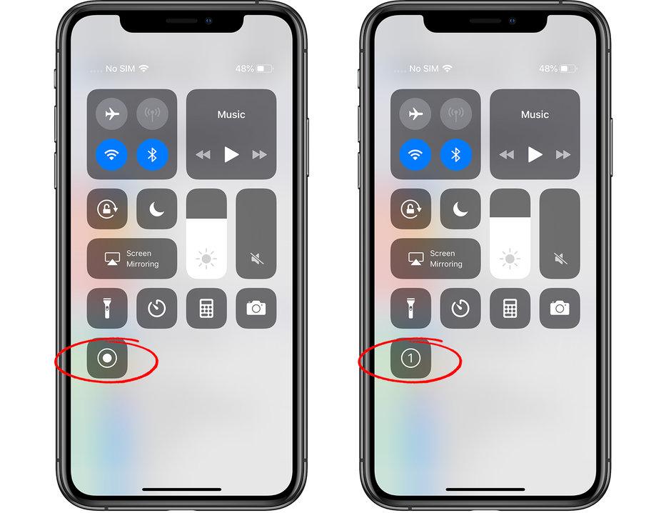 صفحه نمایش iPhone