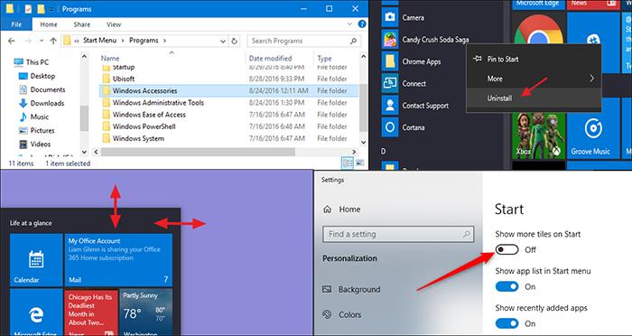 منوی استارت ویندوز 10 بیش از هر ویندوز دیگری قابل تنظیم تر است و می توانید تغییرات مورد نظر خود را اعمال کنید