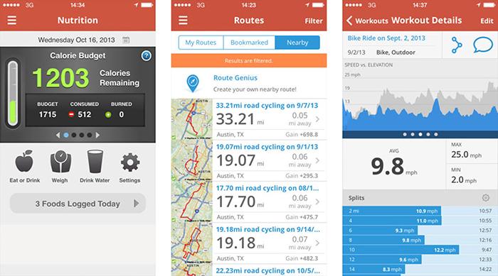 بهترین نرم افزار های ورزشی Map My Run