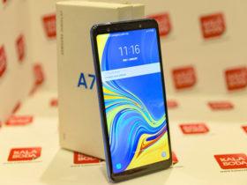 گوشی موبایل گلکسی (A7(2018 ؛ نقطه آغاز میان رده های سامسونگ با 3 لنز