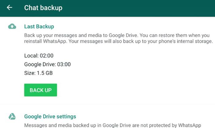 آیا پیام رسان واتس آپ امن است؟پشتیبان گیری بدون رمزگذاری