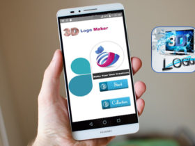 طراحی حرفه ای لوگو با دانلود اپلیکیشن 3D logo maker