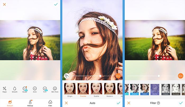 نرم افزار ویرایش تصاویر AirBrush یکی از جذاب ترین اپلیکیشن های گوشی های هوشمند اندروید است
