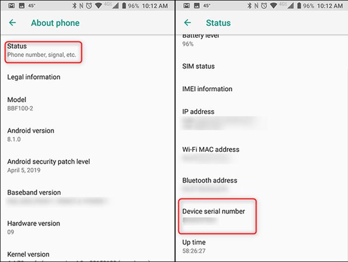 چطور از سریال گوشی موبایل خود مطلع شویم؟در بخش تنظیمات گوشی موبایل