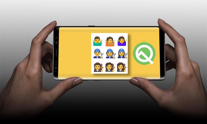 گوگل 53 شکلک جدید با جنسیت های مختلف را به اندروید Q می آورد