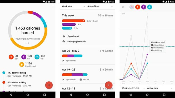 نرم افزار Google Fit را باید یکی از مهم ترین اپلیکیشن ها برای استفاده از گجت های هوشمند دانست