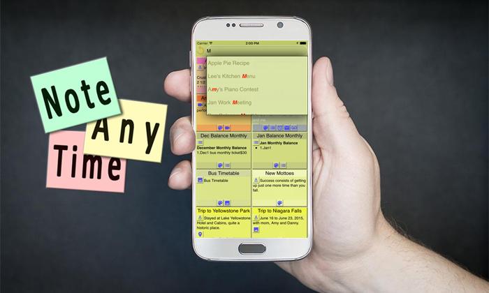 با دانلود نرم افزار Note Anytime در هر جایی یادداشت برداری کنید