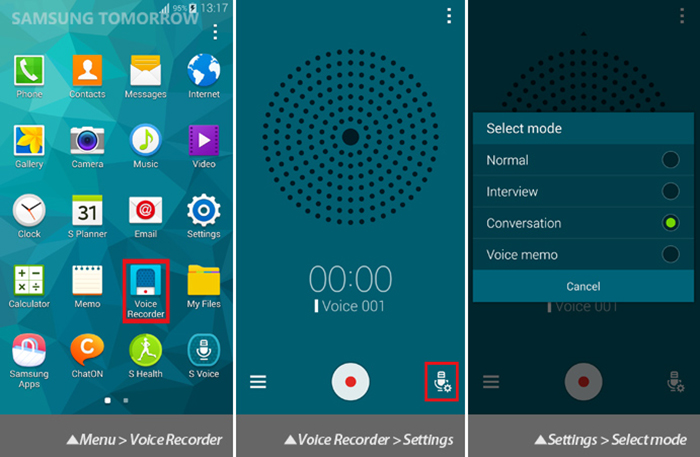 معرفی و دانلود برنامه Samsung Voice Recorder برای ضبط صداهای ماندگار