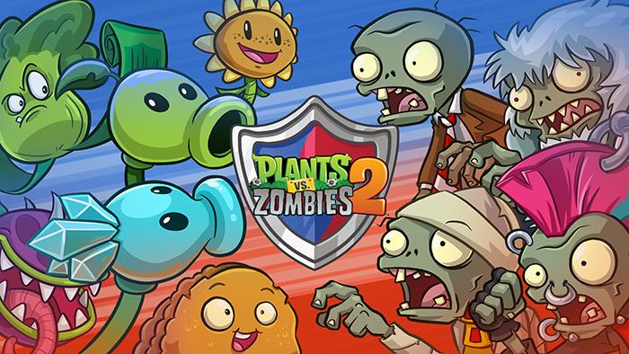 بهترین بازی دیتادار اندروید 2018 سبک استراتژی: بازی PLANTS VS. ZOMBIES 2