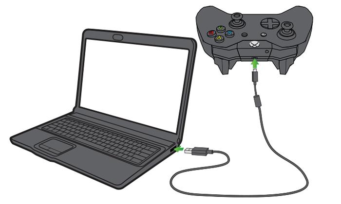 آموزش اتصال کنترلر ایکس باکس وان به کامپیوتر از طریق پورت USB