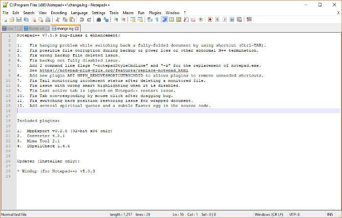 بررسی نرم افزار++ Notepad