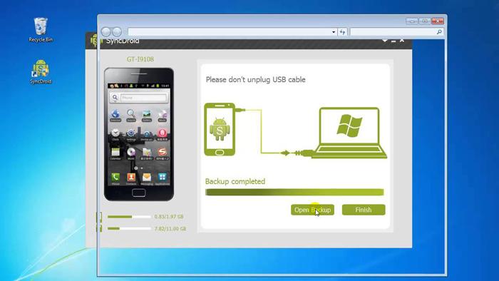 بکاپ گیری از گوشی های اندروید با کامپیوتر نرم افزار SyncDroid