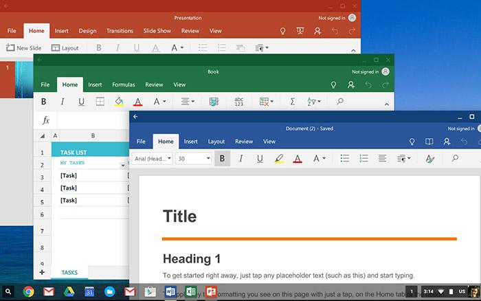 بهترین نرم افزار های کروم بوک،نرم افزار Office Online