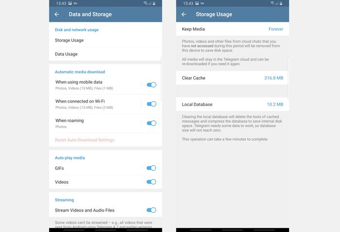 آموزش گام به گام پاك كردن Cash تلگرام در گوشی های اندرویدی