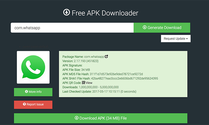 APK Downloader برای نرم افزار های رایگان کاربردی است