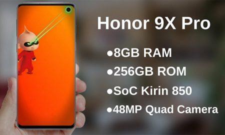 گوشی موبایل Pro Honor 9X با 4 لنز دوربین اصلی رونمایی می شود