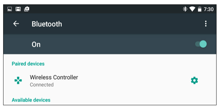 مرحله دوم: کنترلر پلی استیشن 4 خود را به گوشی هوشمندتان متصل کنید