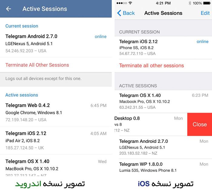 نشانه های هک شدن تلگرام