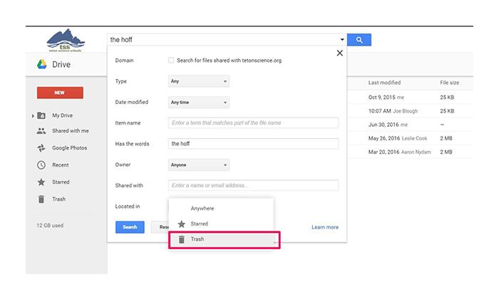 نحوه بازگردانی فایل های پاک شده در گوگل درایو