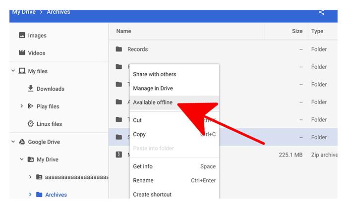 استفاده از گوگل درایو google drive به صورت آفلاین