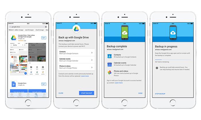 ذخیره و آپلود فایل در گوگل درایو با گوشی های آیفون