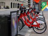 گوگل مپس موقعیت به اشتراک گذاری دوچرخه را روی نقشه نشان می دهد