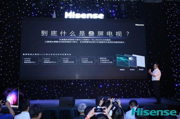 تلویزیون هایسنس با دو پنل صفحه نمایش
