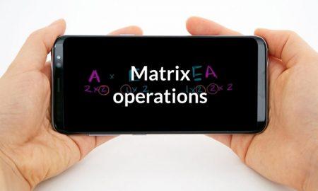 حل معادلات پیچیده ماتریکس و ریاضی با دانلود Matrix operations 