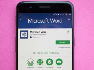 رکورد یک میلیاردی نصب مایکروسافت ورد در گوشی های اندرویدی