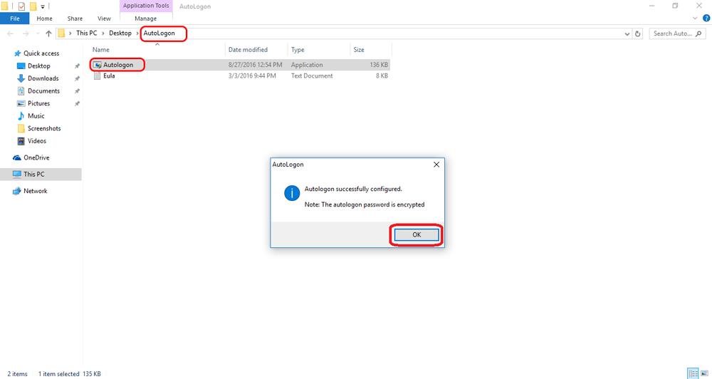 استفاده از Autologon برای حذف رمز عبور ویندوز 10