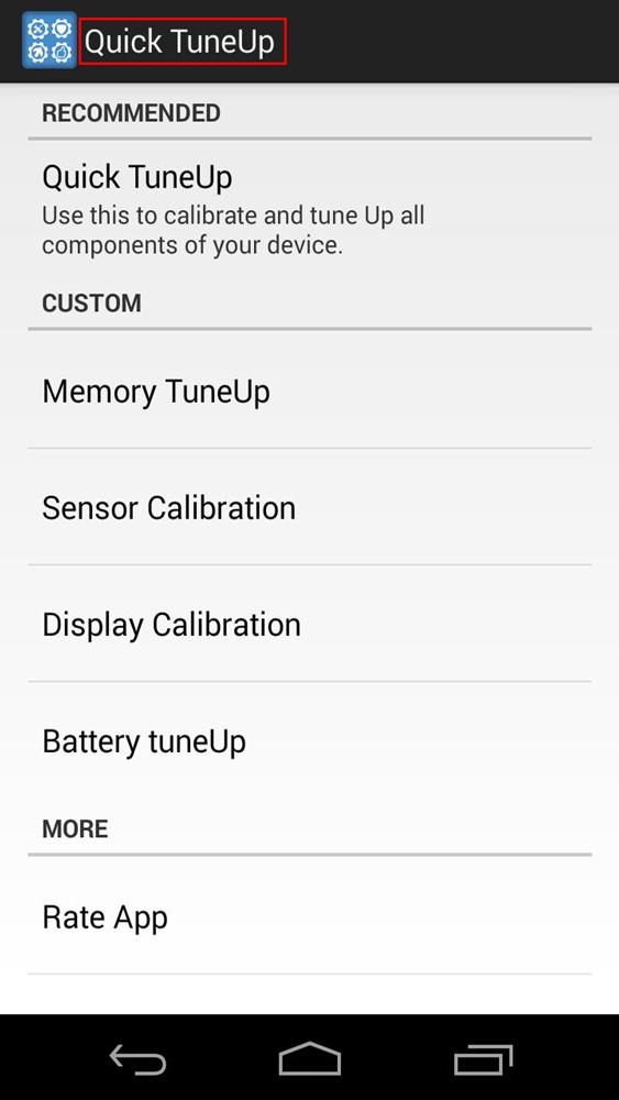 استفاده از تنظیمات گوشی های اندروید برای کالیبر کردن سنسور ها