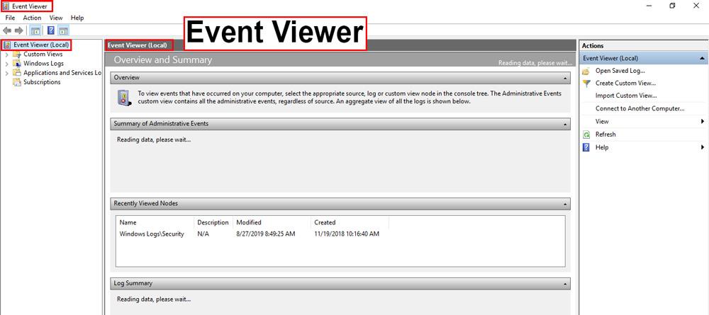 مشاهده جزئیات تمام فعالیت های انجام شده در ویندوز