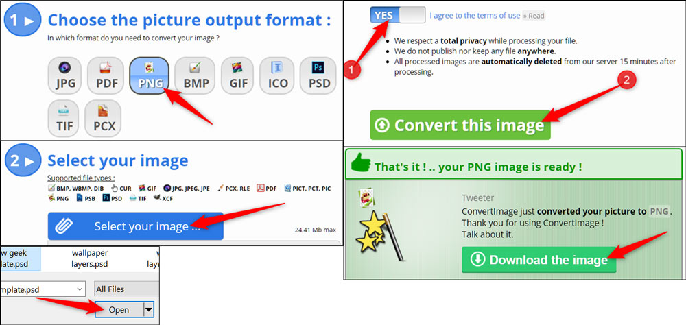 تبدیل فرمت تصاویر به صورت آنلاین