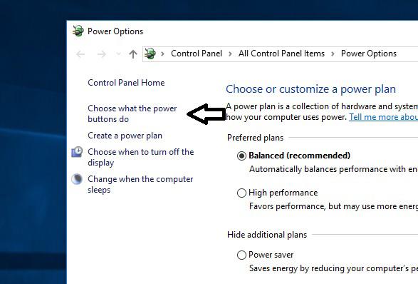 فعال کردن قابلیت Fast Startup برای حل مشکل اسلیپ ویندوز